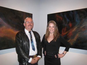 Craig Breckenridge and Stacy Sakai at the Spaced Out opening reception.