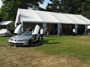 Mercedes tent at the car show