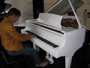 Raymond on piano