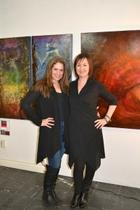 With Donna Pepin in front of the artwork